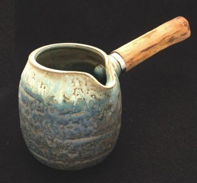Chahai porcelanowy z drewnianą rączką