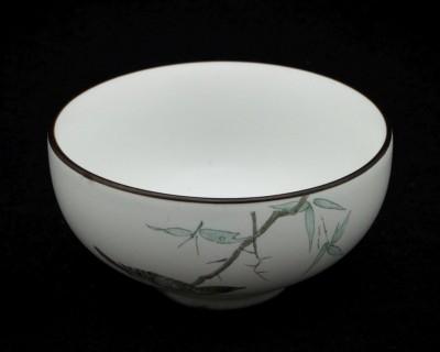 Ptaki - Czarka porcelanowa ręcznie malowana 40 ml