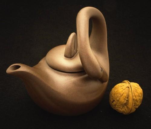 Czajniczek Yixing Łabędź z gliny 160 ml