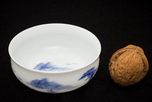 Chiński krajobraz - Czarka porcelanowa ręcznie malowana 40 ml