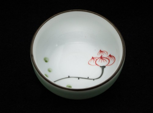 Lotos - Czarka porcelanowa ręcznie malowana 45 ml