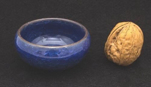 Czarka z gliny yixing z glazurą w kolorze niebieskim 30 ml
