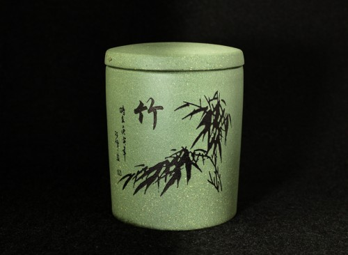 Gliniana puszka dla herbaty
