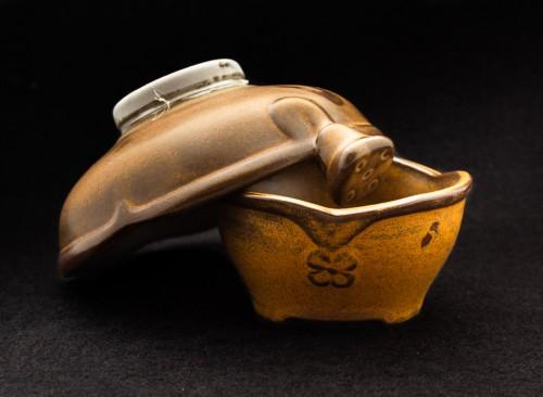 Sitko porcelanowe brązowe