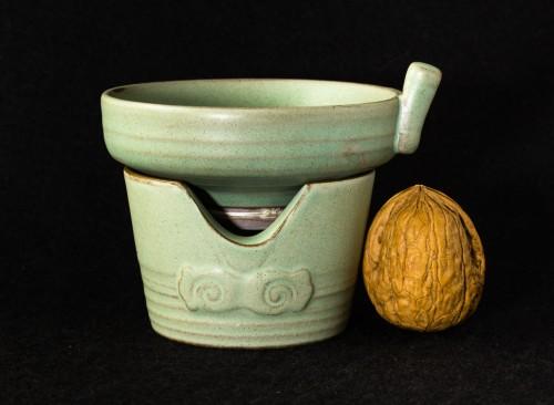 Turkusowe sitko porcelanowe